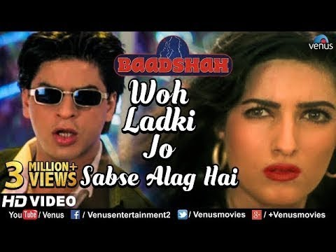 Woh Ladki Jo -HD VIDEO | Shahrukh Khan & Twinkle Khanna | Baadshah |90's Bollywood Romantic Song
