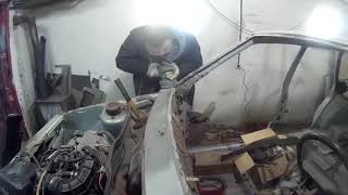 Восстановление ваз 2109. Рихтовка и шпаклевание кузова авто!