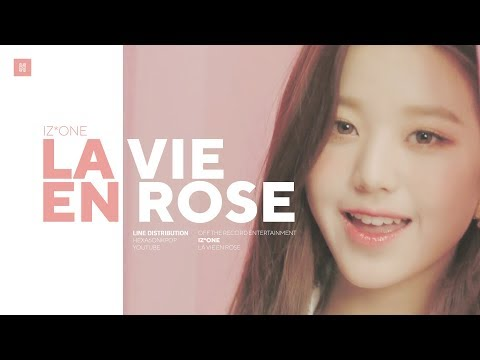 IZ*ONE - La Vie en Rose Line Distribution (Color Coded) | �
