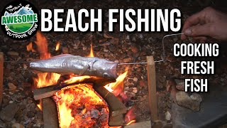 Beach Fishing and Cooking Fish over a Fire | TA Outdoors