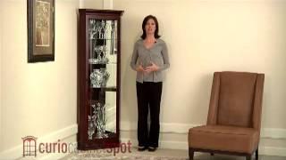 Pulaski Model 20205 Corner Curio Cabinet