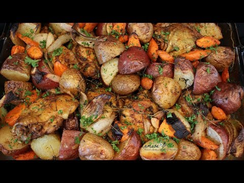One Pan Chicken And Vegetable Recipe | Oven Roasted Chicken And Vegetables | Episode 148