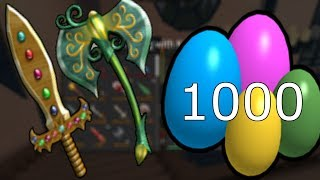 SPENDING 1000 EGGS! (EXOTIC KNIFE SPRING CASE UNBOXING) Roblox Assassin