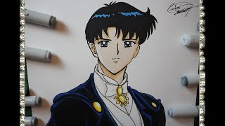 Cómo Dibujar a  Tuxedo Mask Mamoru Chiva How To Draw  Sailor Moon S Speed Drawing | CarlosNaranjoTV
