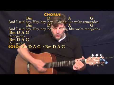 Renegades (X Ambassadors) Strum Guitar Cover Lesson in Bm with ...