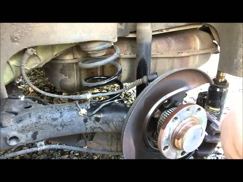 volkswagen  beetle abs wheel speed sensor replacement  brake overview youtube