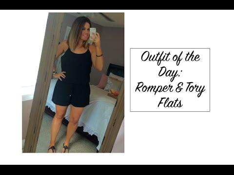OOTD: Romper & Tory Burch Flats