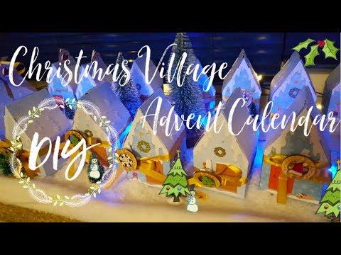 DIY Advents Calendar Christmas Village