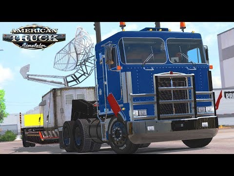American Truck Simulator - Kenworth K100 Oversized Satellite (ATS Mods)