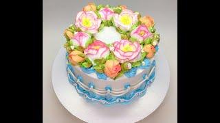 Оформление торта БЗК ( белково - заварной крем )