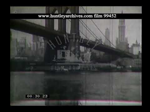 New York skyline, 1930's. Archive film 99452