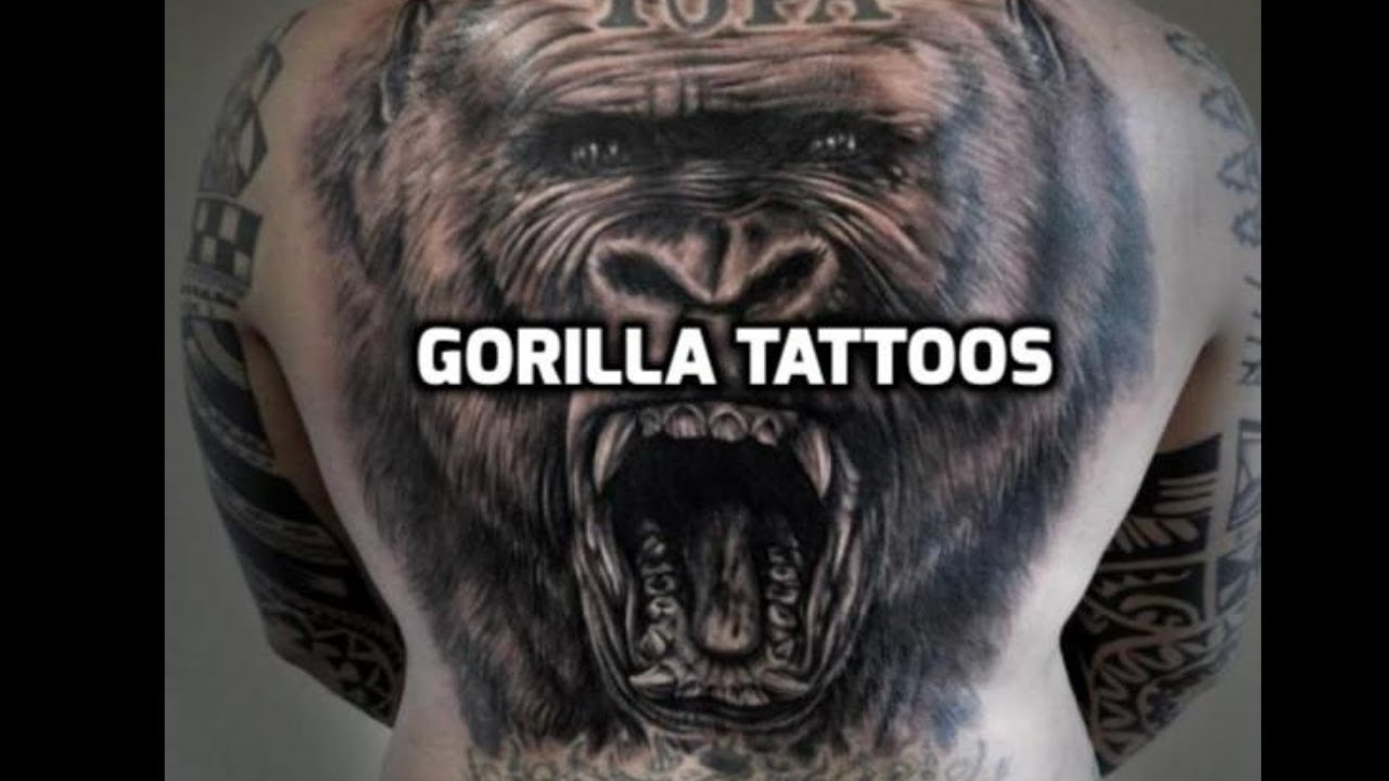 64009f53b Gorilla Tattoos - Best Gorilla Tattoos - YouTube