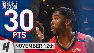 E'Twaun Moore Full Highlights Pelicans vs Raptors 2018.11.12 - 30 Pts, 2 Ast, 3 Rebounds!