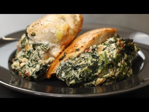 Spinach & Cheese Stuffed Chicken