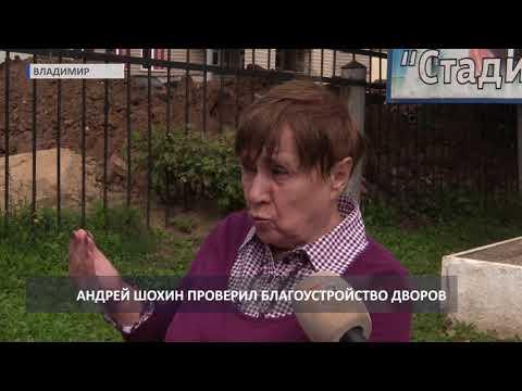 Глава администрации Владимира проверил благоустройство дворов города (2019 08 27)