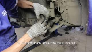 Замена тормозных дисков и колодок. Renault Logan.