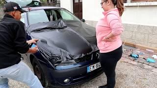 Proyecto Renault Clio 2 2003 - Wrap Negro Mate Vinyl bonete y Techo |VLOG 05|