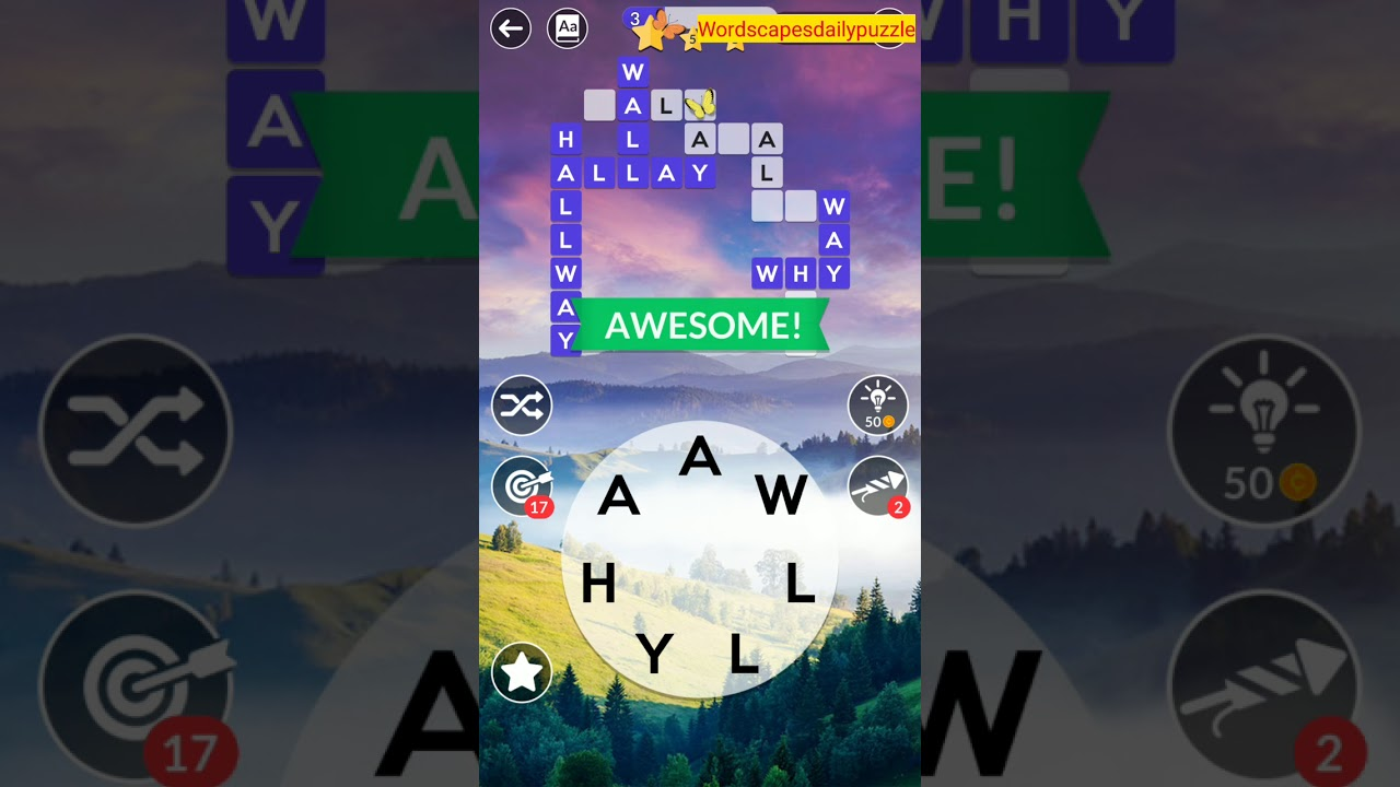 Wordscapes Daily Puzzle March 2 2020 Answers - YouTube