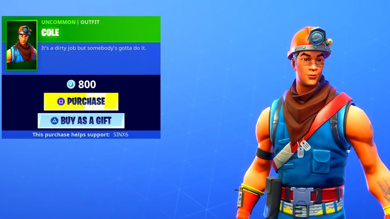 new cole skin and rockbreaker pickaxe may 5 2019 fortnite item shop youtube new cole skin and rockbreaker pickaxe