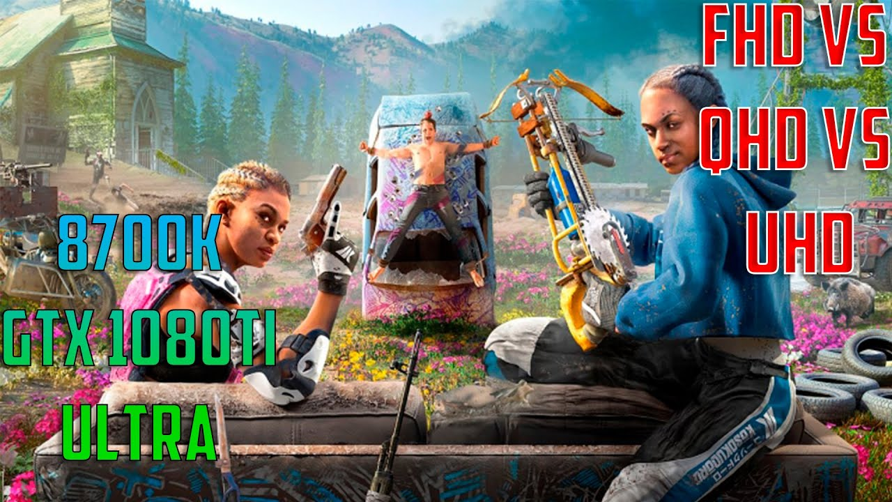 Far Cry New Dawn - FHD vs QHD vs UHD - 8700k & GTX 1080Ti