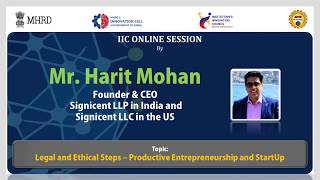 Learn From Leaders || Talk On Legal and Ethical Steps – Productive Entrepreneurship and Start Up