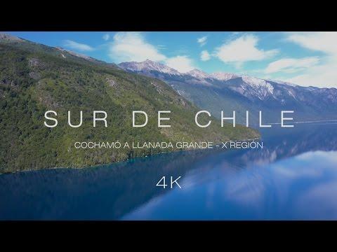 Aerial footage over Cochamó, Puelo and Llanada Grande - Chile (4K)