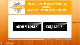 Detecting Phishing Websites using Machine Learning Technique