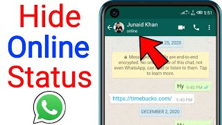 How to Hide Online On Whatsapp - How to Hide Online Status On Whatsapp 2021