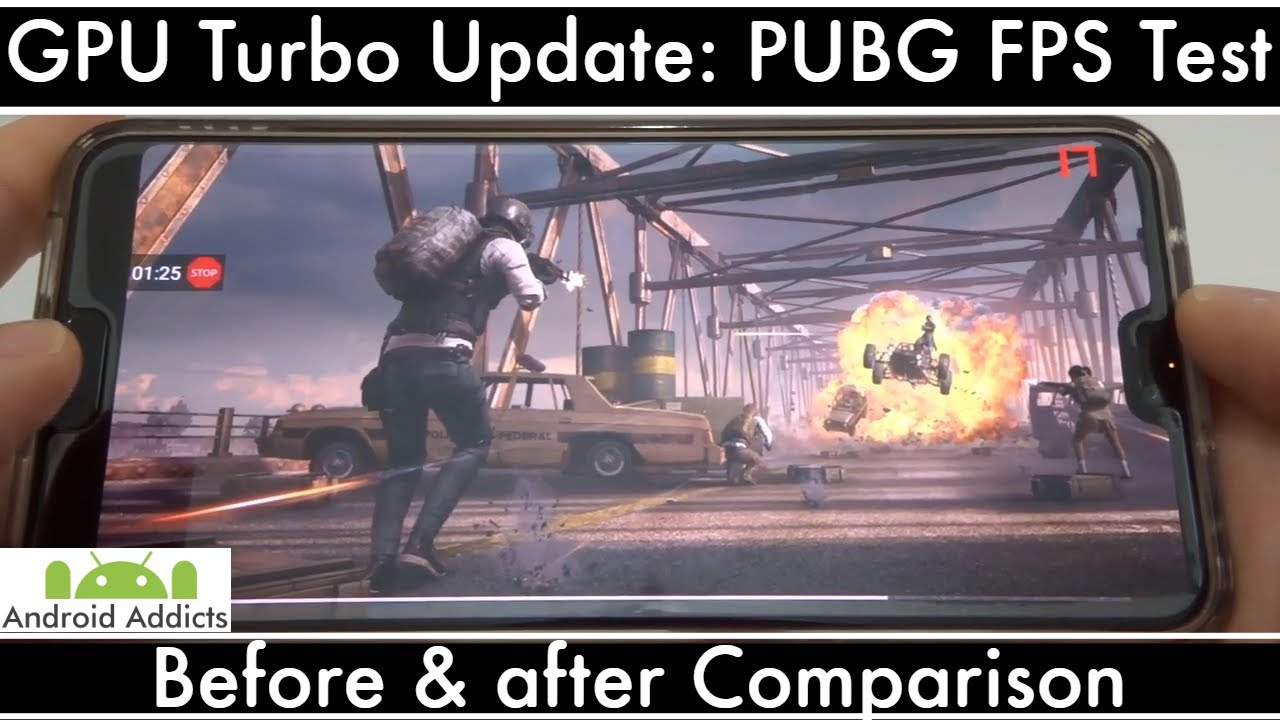 Huawei P20 Pro GPU Turbo Update BEFORE and AFTER PUBG FPS Benchmark  Comparison