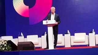 Смотреть видео #Мэр Москвы Собянин открыл #МПФ2018(речь часть2) онлайн