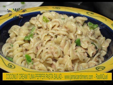TUNA PEPPER COCONUT MACARONI or PASTA SALAD: Healthy Choice
