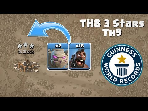 WORLD RECORD TH8 WAR ATTACK STRATEGY | CLASH OF CLANS