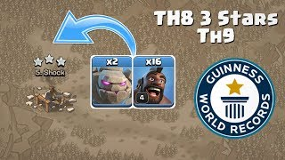 WORLD RECORD TH8 WAR ATTACK STRATEGY   CLASH OF CLANS