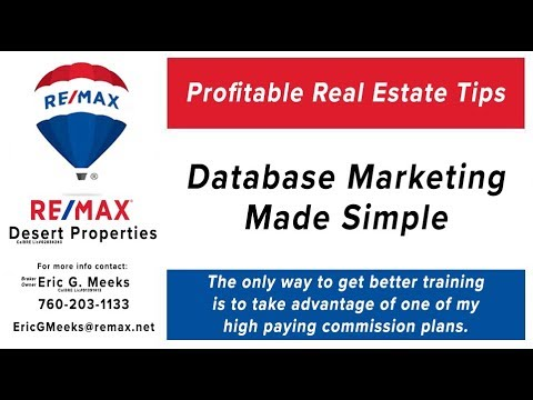 Database Marketing for Palm Springs Area Real Estate Agents