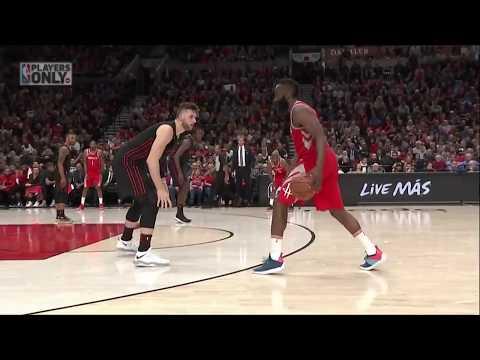 Future NBA MVP James Harden ices the Trailblazers in the 4th quarter! 03/20/18