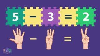 Como subtrair os números - Subtração - Conta de menos - Vídeo educativo infantil