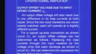 Lecture - 27 Characteristics of Operation Amplifier