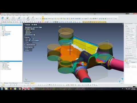 Casting Bracket - Geomagic Design X (3D Scanning Conversion) Part 03
