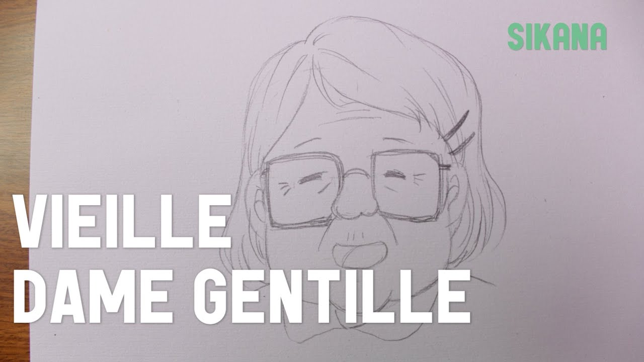 Visage D Une Gentille Grand Mère Apprendre à Dessiner Youtube