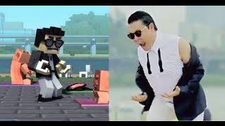 Minecraft Style / Gangnam Style Comparison High Quality