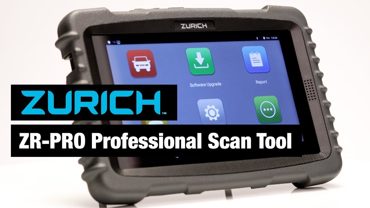 Zurich ZR PRO Professional Scan Tool Overview - YouTube