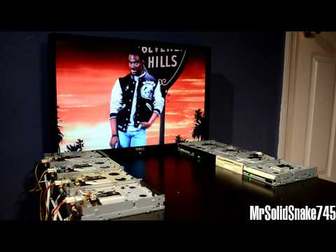 Beverly Hills Cop Theme on eight floppy drives