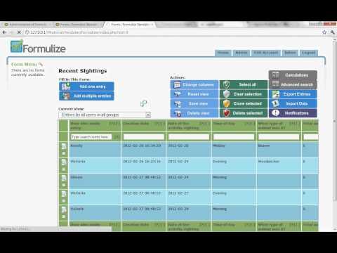 formulize tutorial altering screens