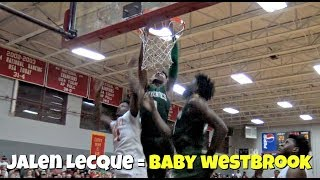 "DON'T JUMP WITH JALEN LECQUE! ""Baby Westbrook"" Best Dunks From His Junior Year"