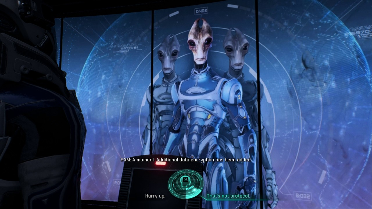 Mass Effect Andromeda Patch Sam To Salarian Ark Terminal Youtube