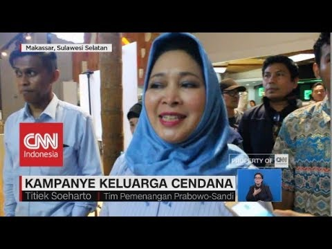 Kampanye Keluarga Cendana, Mantan Istri Prabowo, Titiek Soeharto