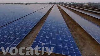 Take An Aerial Tour Of A Massive Solar Farm