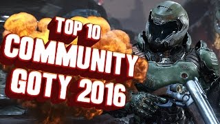Top 10 - Games of 2016 voted by our subscribers