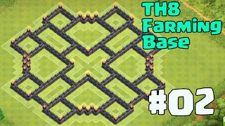 Clash of Clans - Best TH8 Farming Base Dark Elixir - Protect Loot Defense - New Design Update