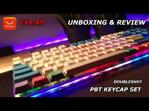 PBT KEYCAPS SET / ALIEXPRESS / €18,89 / UNBOXING & REVIEW